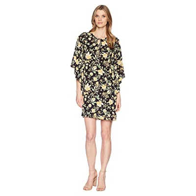 B Collection by Bobeau Morna Ruffle Sleeve Dress (Yellow Floral) Women