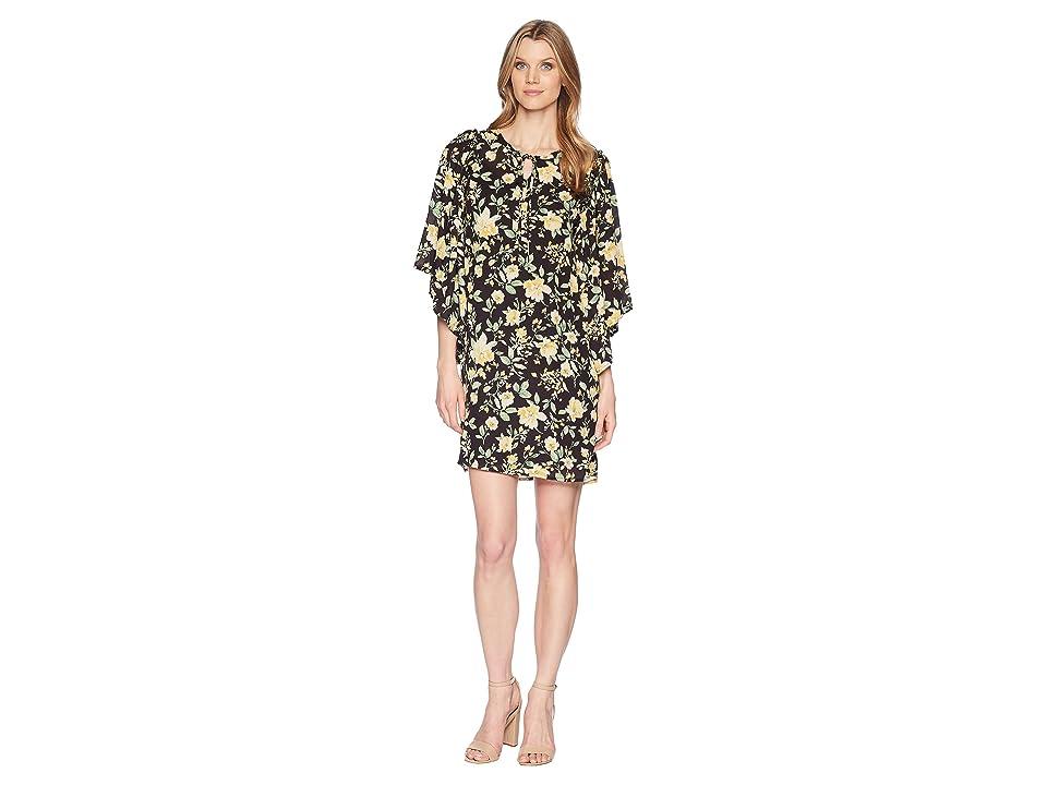 B Collection by Bobeau Morna Ruffle Sleeve Dress (Yellow Floral) Women
