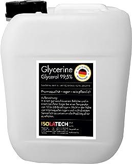 Glicerina 99.5% grado farmacéutico, vegetal puro, glicerina glicerol líquido transparente Botella de 5L (contenido 6kg)