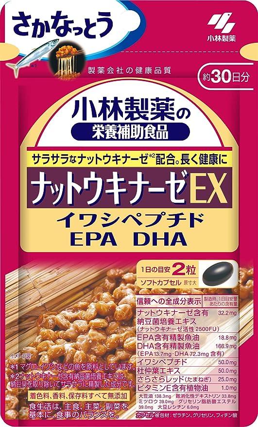 瞑想腐食する急襲小林製薬の栄養補助食品 ナットウキナーゼEX 60粒