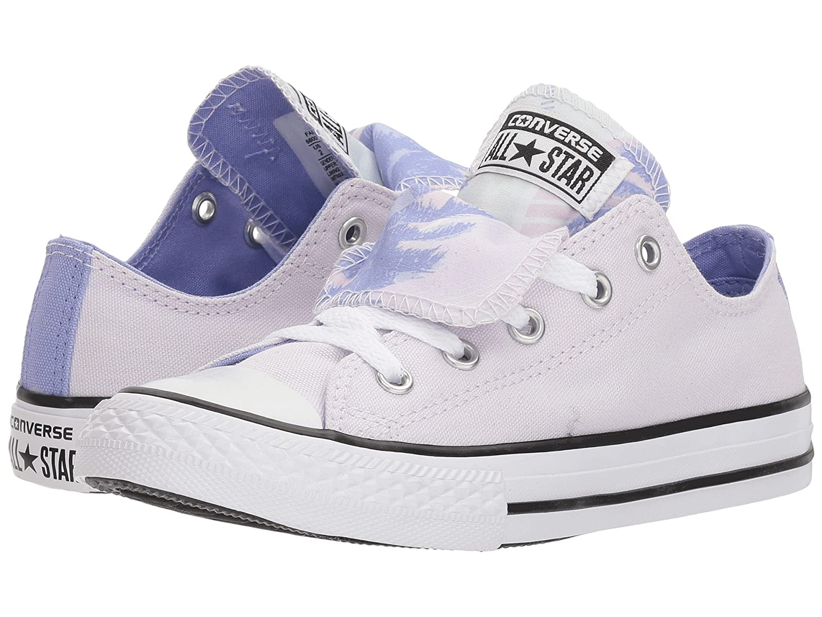 Converse Kids Chuck Taylor All Star Double Tongue Palm Trees Ox (Little Kid/Big Kid)Atmospheric grades have affordable shoes