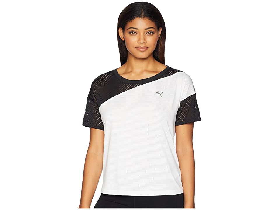 PUMA A.C.E. Mesh Blocked Tee (Black/White) Women