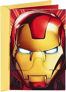 Hallmark Vida Marvel Iron Man Spanish Birthday Card for Kids with Removable Mask