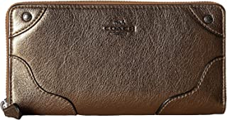 Coach Grain Mickie Zip Around Wallet for Women - Leather