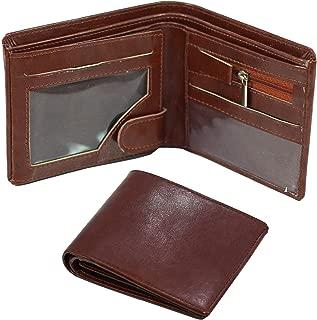 Storite Front Pocket Money Bifold Wallet PU Leather Purse Credit Card Holder for Men -Brown