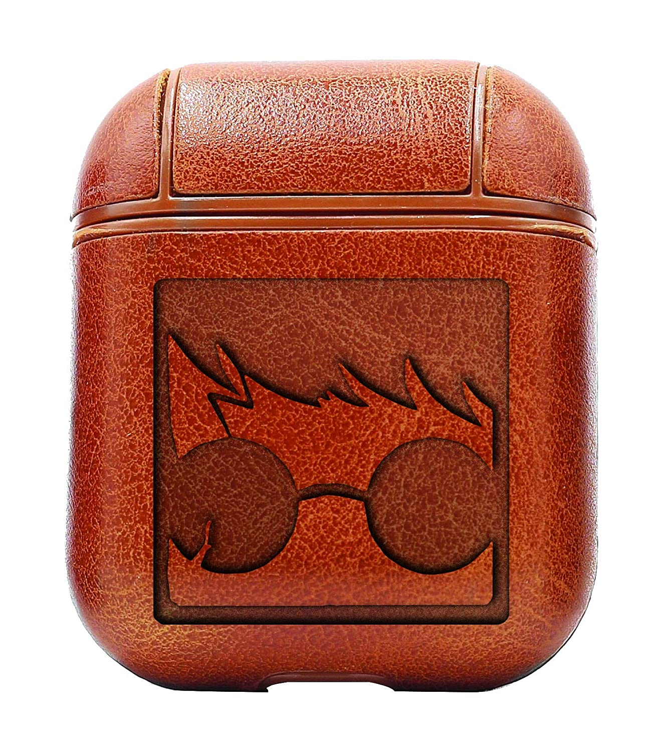 Movie Film Harry Closeup (Vintage Brown) Air Pods Protective Leather Case Cover - a New Class of Luxury to Your AirPods - Premium PU Leather and Handmade exquisitely by Master Craftsmen