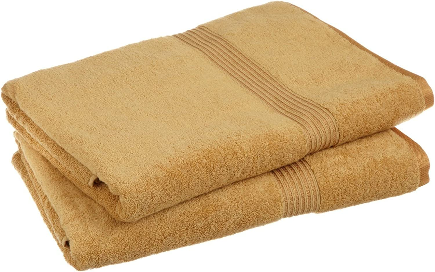 Superior 100% Egyptian Cotton Solid Bath Sheet Set, gold, 2-Piece