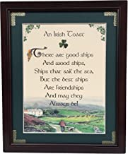 Irish Toast - There Are Good Ships - Personalizable Framed Green Matted Blessing