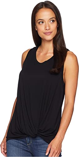 Isla Sleeveless Top with Front Knot