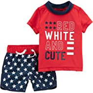 Carter's Baby Boys' 0M-24M 4th of July Rashguard Set