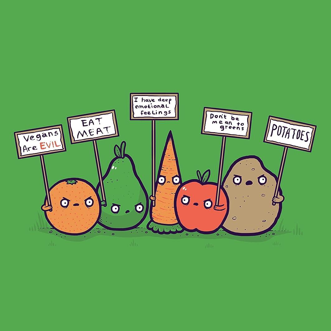 Protesting Vegans Funny Vegetables w/ Protest Signs Against Vegans - Vinyl Sticker