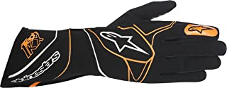 Alpinestars 3551817-156-L Tech 1-KX Gloves, Black/Orange Fluorescent, Size L