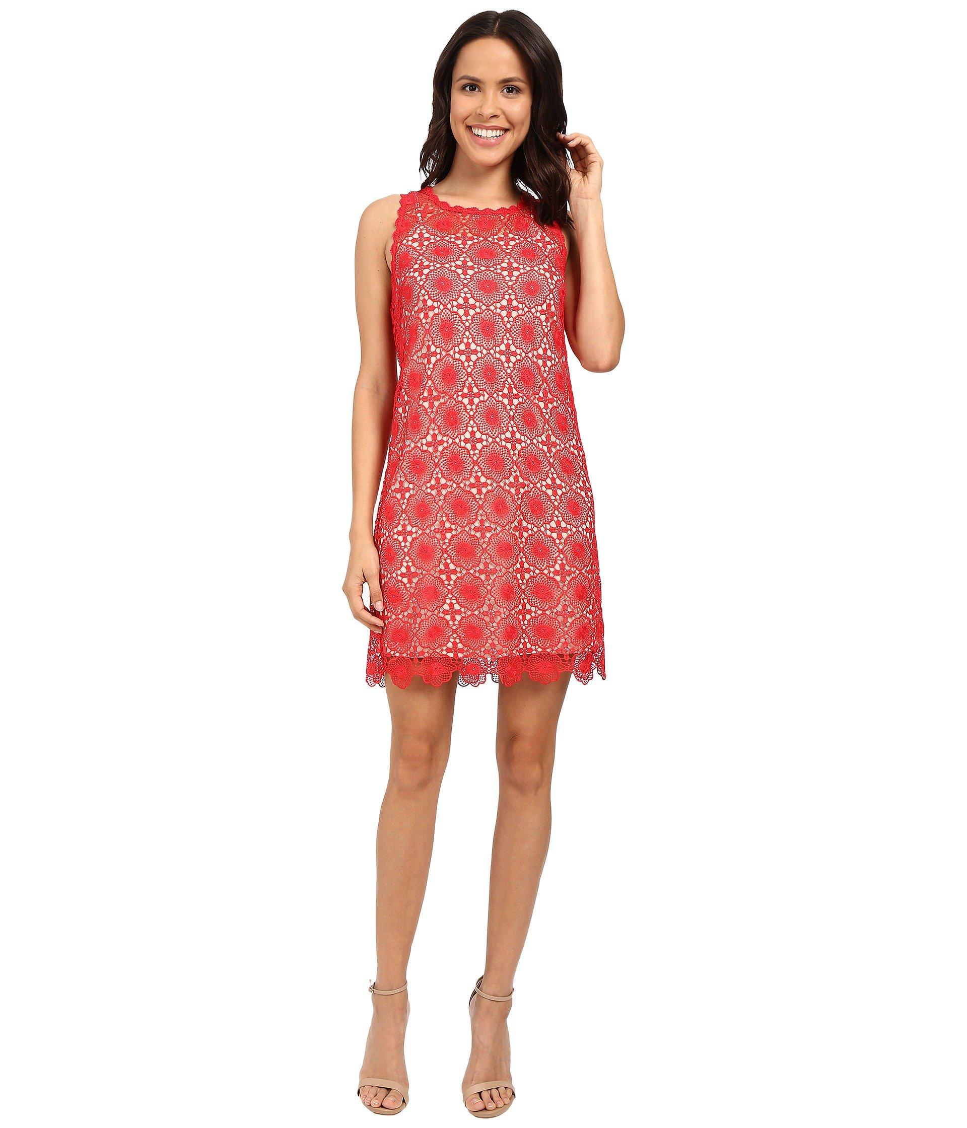 97cde935c3 Kensie Open Floral Lace Dress Ks5K7939 In Candy Apple Combo ...
