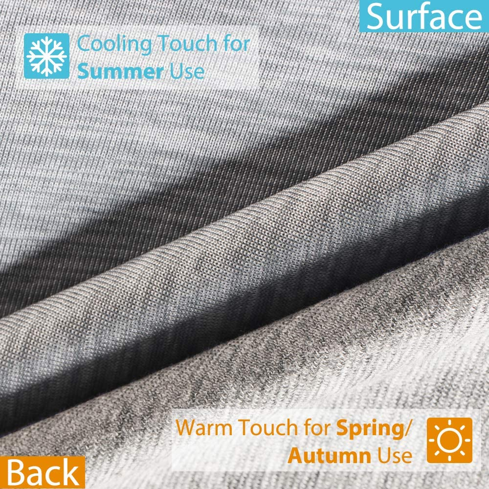 51X67 inch Bed Blanket for Summer Night Sweats Cooling Blanket Beige Elegear Throw Size Revolutionary Cool-to-Touch Technology Summer Cool Blanket Q-MAX 0.4