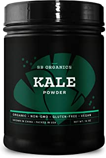 Sponsored Ad - SB Organics Kale Powder - USDA Organic Antioxidant-Rich Superfood with Fiber, Vitamins and Minerals - 16 oz.