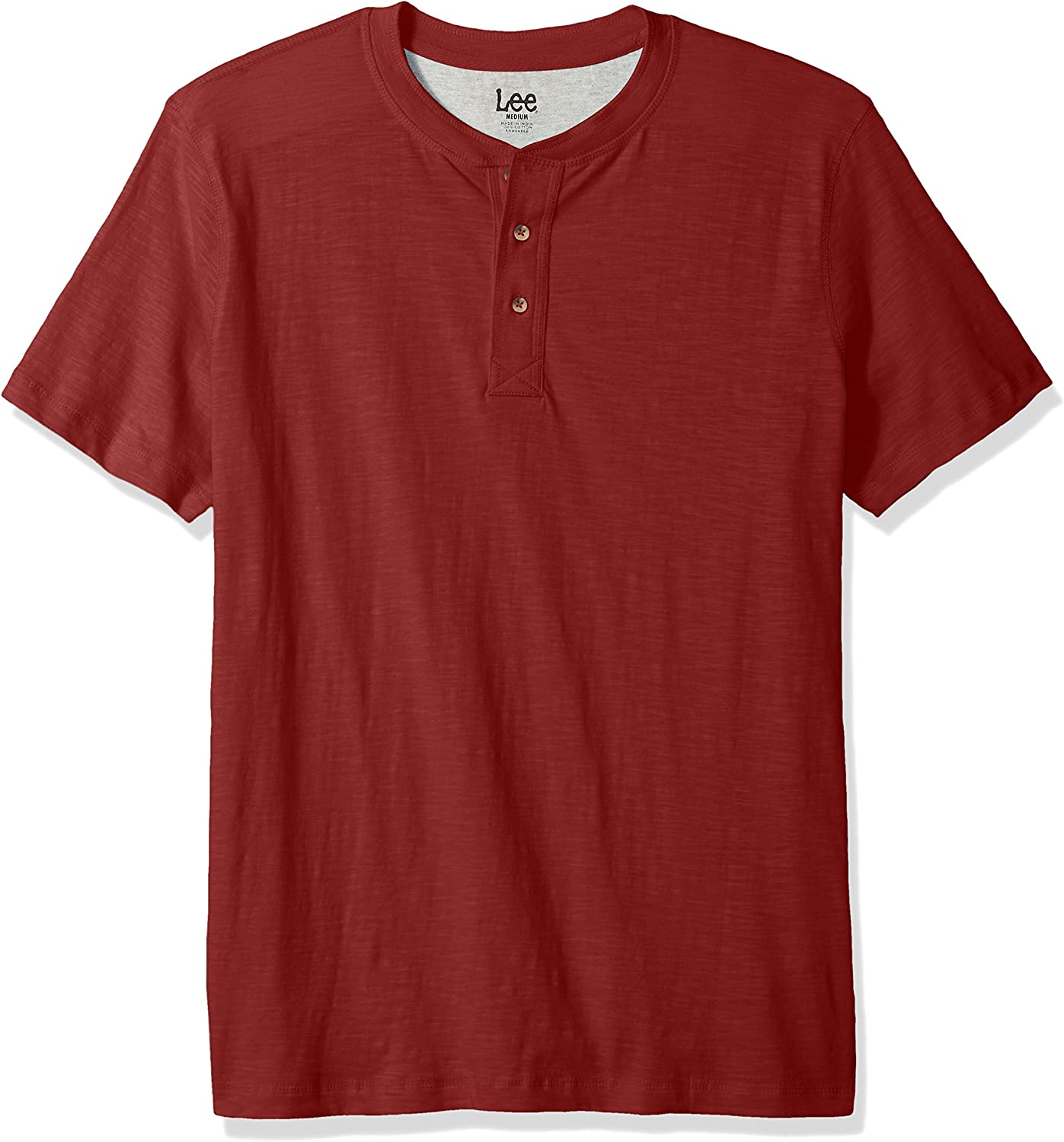 LEE Men's Henley Short Sleeve T-Shirt   Casual, Soft Breathable Cotton Tee   Regular Fit, Big and Tall