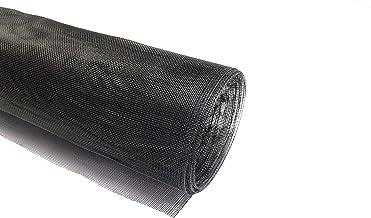 Pangolino Roestvrij stalen gaas Super View zwart gelakt V2A vliegenbescherming roestvrij stalen gaas 12,50 m als rol x 1,2...