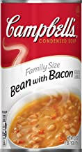Campbell's Condensed Family Size Bean with Bacon Soup, 23 oz. Can (Pack of 12)