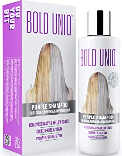 Purple Shampoo for Blonde Hair: Blonde Shampoo Eliminates Brassy Yellow Tones- Lightens Blonde, Platinum, Ash, Silver and ...