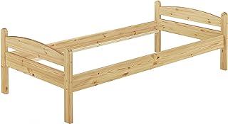 Erst-Holz Lit Solide pin Massif Naturel 80x200, lit Enfant, Cadre de lit sans sommier ni Matelas 60.32-08oR