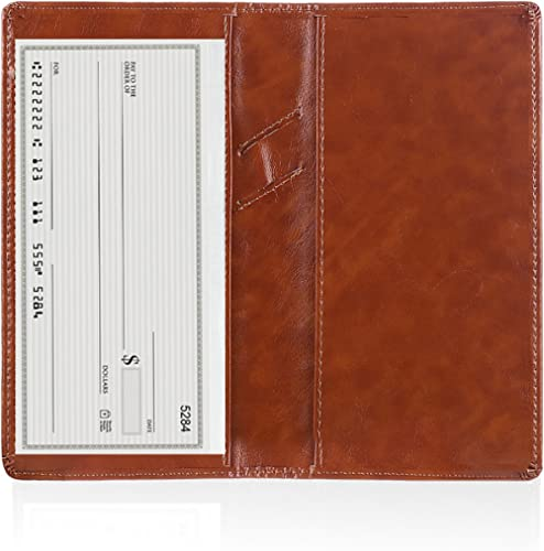 Abstract Eye Painting Genuine Leather Checkbook Cover