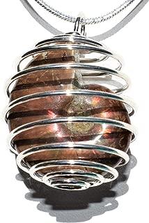 Charged Flashy Opalized Rainbow Ammonite (Amolite) Perfect Pendant + 20