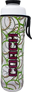 50 Strong BPA Free Water Bottle for Kids and Adults - Sports Designs w/Personalized Options for Coach, Girl, or Boy - Add Custom Name, Number, or Sport - USA Made