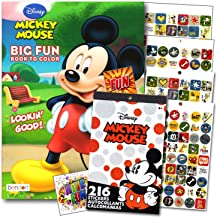 Mickey Mouse Coloring Book With Stickers Set - 96 Pg Mickey Coloring Activity Book and Mickey Mouse Stickers Bundled with 2 Specialty Separately Licensed GWW Reward Stickers