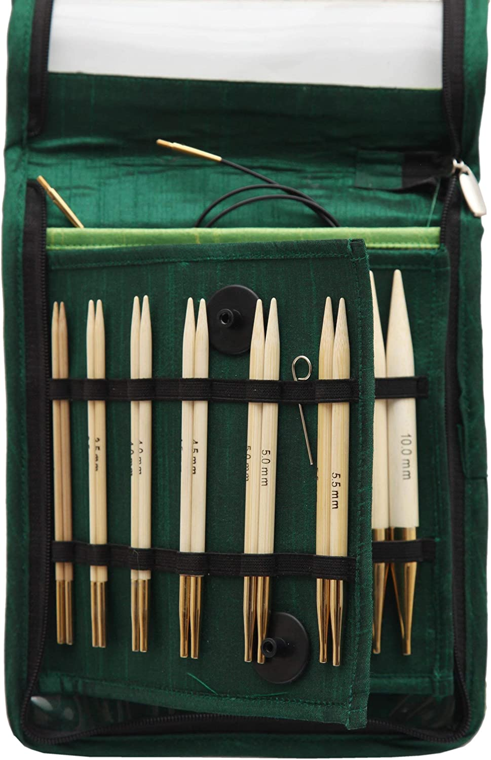 KNITPRO Deluxe 22542 Bamboo Needle Set Needle Tips for Knitting in the Round