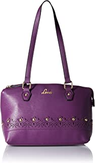 Lavie Jute Medium Dome Satchel Women's Handbag (Purple)