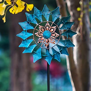 Best SteadyDoggie Wind Spinner Emerald 61in Single Blade Easy Spinning Kinetic Wind Spinner for Outside – Vertical Metal Sculpture Stake Construction for Outdoor Yard Lawn & Garden Review