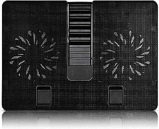 ZUIZUI Notebook kylplatta laptop kylplatta 2 x 140 mm fläktar upp till 17,3 tum tung notebook kylare inbyggd en USB 3.0