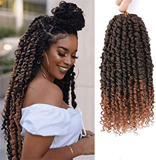 Passion Twist Hair - 8 Packs 12 Inch Passion Twist Crochet Hair For Black Women, Crochet Pretwisted Curly Hair Passion Twi...