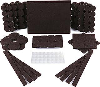 Protectores para patas de mesa. Juego de 150: 118 fieltros adhesivos y 32 lagrimas silicona adhesivas. Protector adhesivo ...