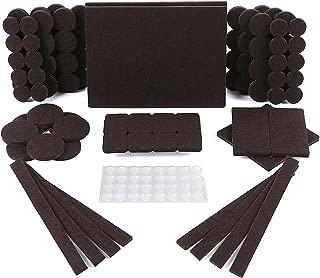 Protectores para patas de mesa. Juego de 150: 118 fieltros adhesivos y 32 lagrimas silicona adhesivas. Protector adhesivo para patas de sillas, fieltro para sillas de 5mm de grosor y más durabilidad