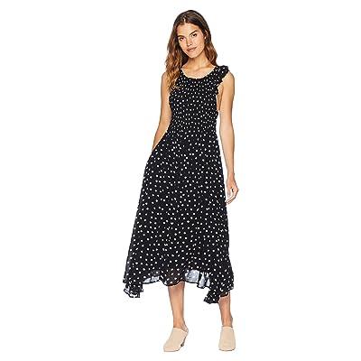 Free People Chambray Butterflies Midi Dress (Black) Women