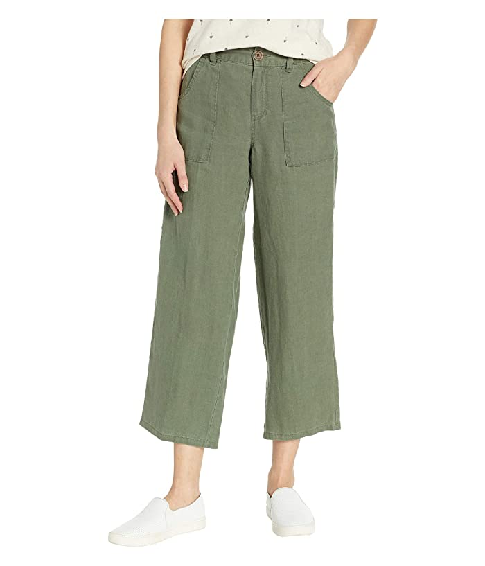 Sanctuary Traveler Wide Leg Crop Utility (Peace Green) Women