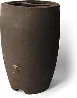 Algreen Products Athena Rain Barrel 50-Gallon, Brownstone