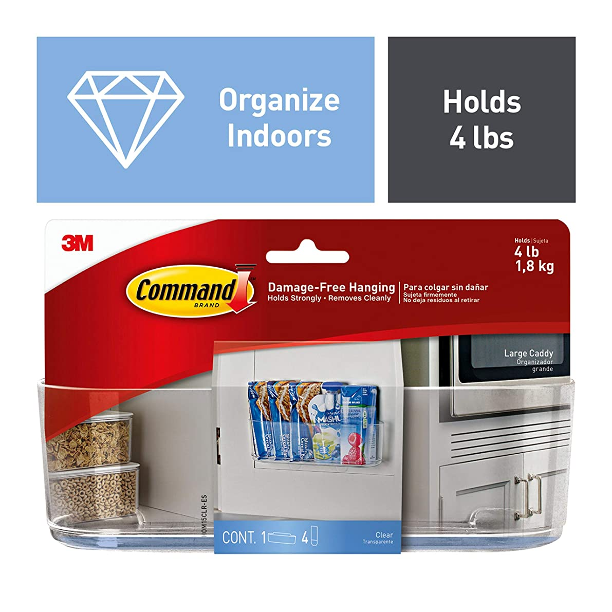 Command Large Caddy, Clear - HOM-15
