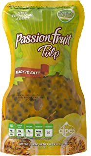 Passion Fruit Pulp with Real Tropical Fruit - Alpes Ready to Eat NET WT 16oz