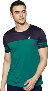 Amazon Brand - Symactive Men's Color Block Regular Fit Half Sleeve Sports T-Shirt