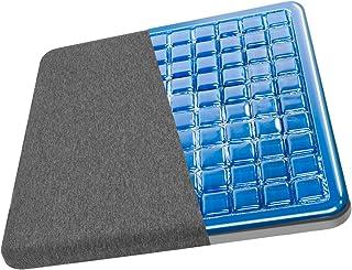 VAYDEER Cojín de asiento de gel Cojín de coxis Cojín de asiento de coxis, hecho de espuma viscoelástica, Cojín de asiento para silla de oficina, asiento de coche (gris)