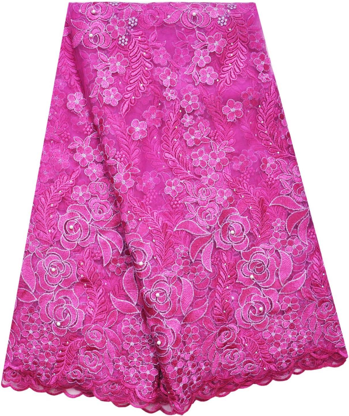 SanVera17 即出荷 African Lace Net Fabrics Fabric French Rope SALE開催中 E Nigerian