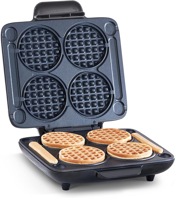 DASH Multi Mini Four Waffle Maker with Dual Non-stick Sides