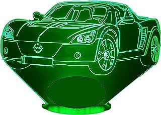 OPEL SPEEDSTER, Lampada illusione 3D con LED - 7 colori.