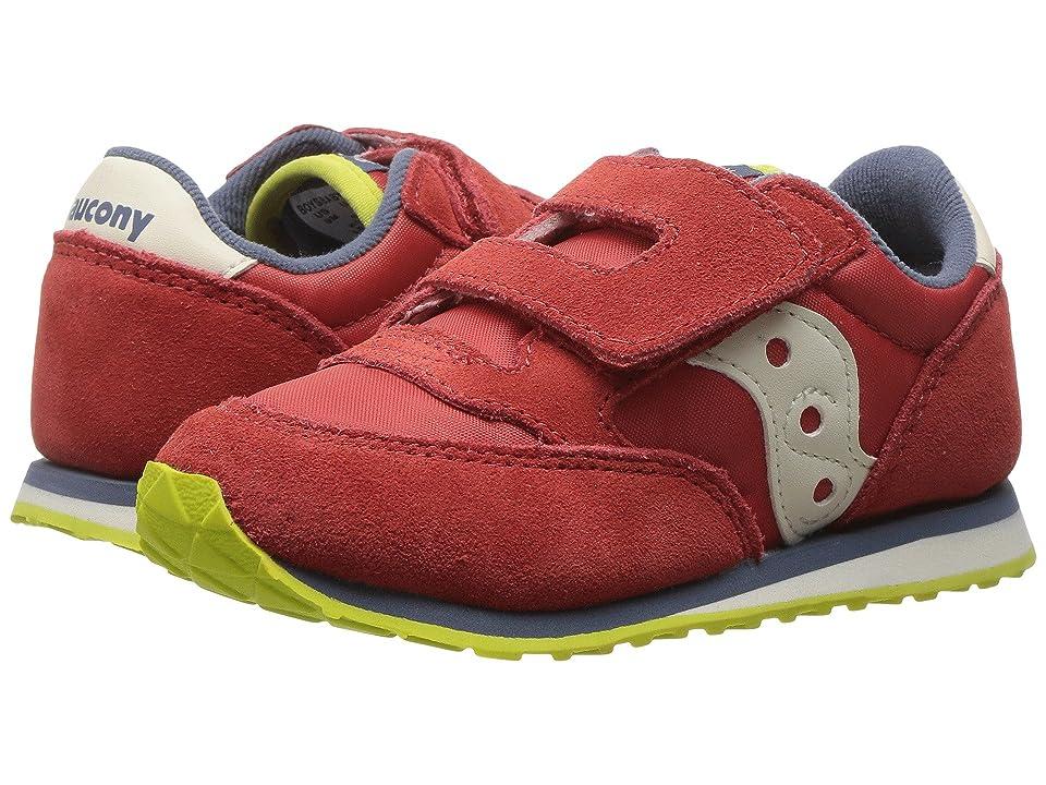 Saucony Kids Originals Jazz Hook Loop (Toddler/Little Kid) (Red/Blue/Lime) Boys Shoes