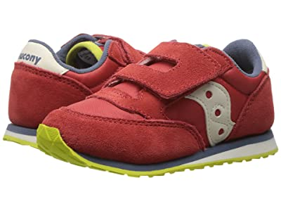 Saucony Kids Originals Jazz Hook Loop (Toddler/Little Kid) (Red/Blue/Lime) Boys Shoes