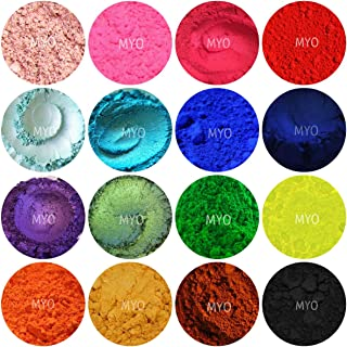 10 Piece MYO Assorted Sampler Eyeshadow Pigment Shimmer & Matte Color Set Mica Cosmetic Mineral Makeup 3 Gram Size (Small) (Prep Eyelids with a Base Primer Before Applying Pigment.)