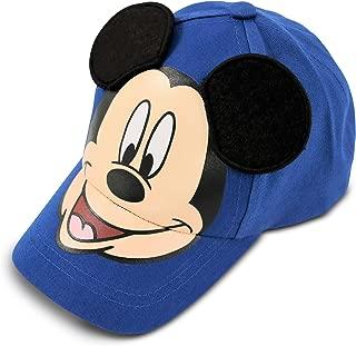 Little Boys Mickey Mouse Cotton Baseball Cap, Blue, Age 4-7