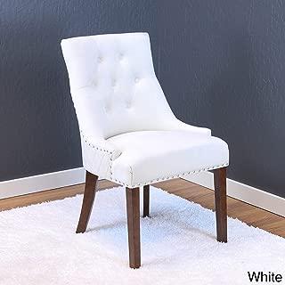 Monsoon Lemele Tufted Velvet Dining Chairs (Set of 2) White